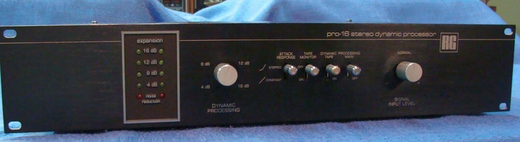A typical dynamic range expander, used to undo the excessive compression of LP records and radio broadcasts so the sound becomes clearer and more realistic. Unit shown made by RG Dynamics, later bought out by Pioneer.
