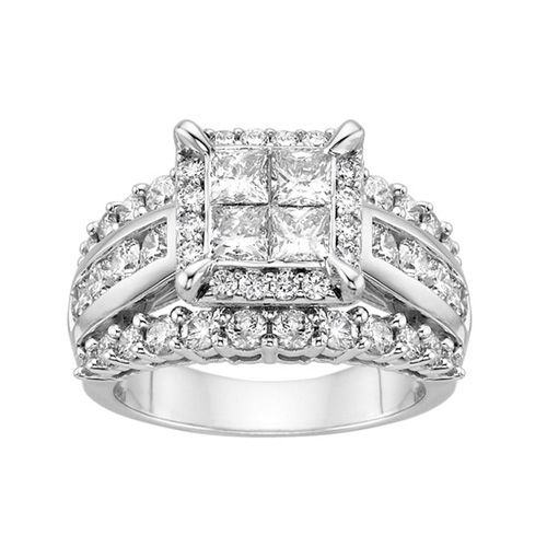 Fred Meyer Jewelers 3 Ct Tw Diamond Centerpiece Engagement Ring