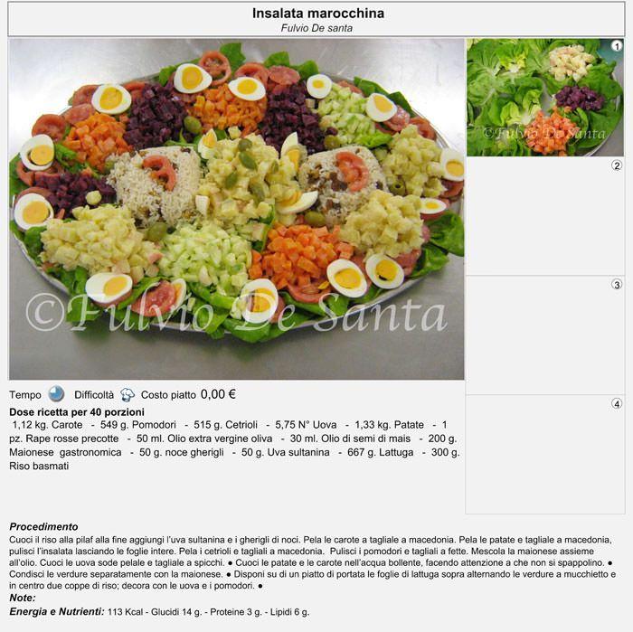 Cucina Etnica: Marocco INSALATA DEL MAROCCO http://fulviodesanta.altervista.org/marocco/articoli/marocco#insalatamarocco