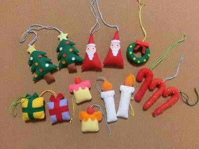 クリスマスの飾り付け・フェルトオーナメント『クリスマスリース』 - kokoheartのささやかな一日