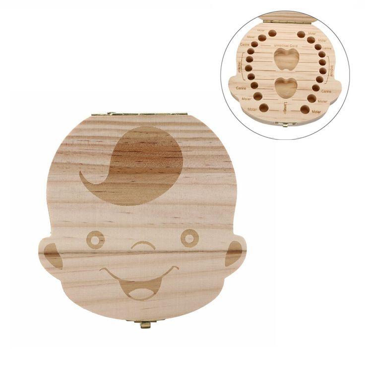 الأسنان الأسنان مربع المنظم للطفل حليب حفظ الخشب تخزين مربع ل فتى وفتاة