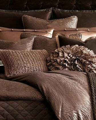 Brown bedding - Ann Gish, Horchow http://www.horchow.com/Ann-Gish-Tigress-Stripe-Bed-Linens-Brown/cprod29270057_cat16360737_cat15560733_/p.prod?index=5&cmCat=cat000000cat000072cat15560733cat16360737&isEditorial=false&ecid=HCALRJ84DHJLQkR4