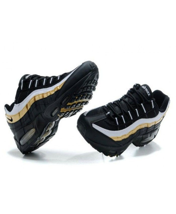 info for 98156 ba564 Nike Air Max 95 Black Gold White Trainer Sale | nike black ...