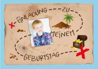 Zur Schatzsuche Mit Dieser Einladung! Lustige Einladungskarte Mit Foto Zum  Kindergeburtstag Mit Thema Schatzsuche.