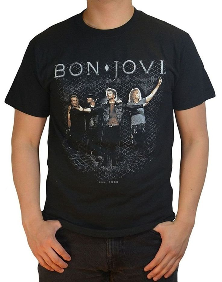 >> Click to Buy << Bon Jovi Standing  T-Shirt 2017 New Camisetas band rock T Shirt 100% cotton cool t shirt lovely summer jersey costume t-shirt #Affiliate