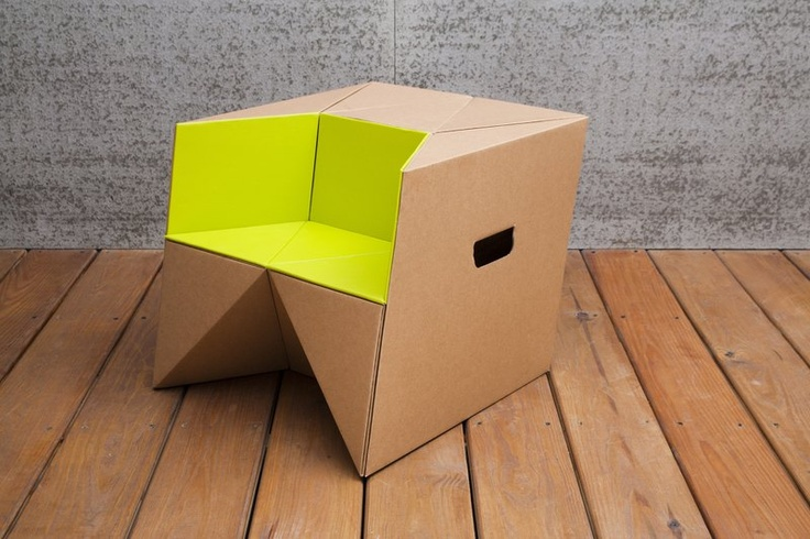 how to make a cardboard chair step by step