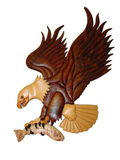 An intarsia eagle, an example of