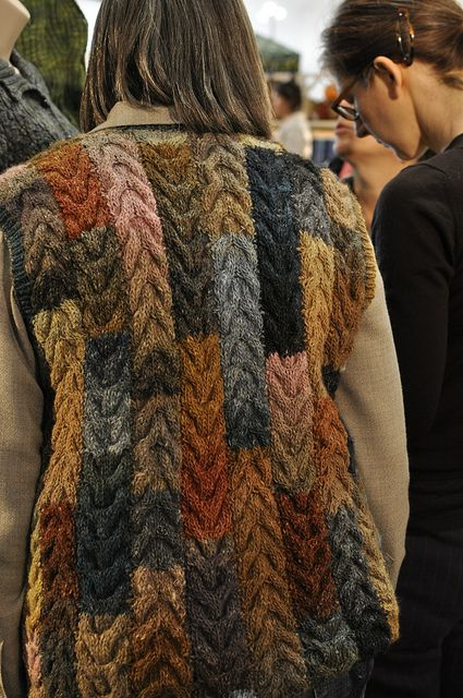cabled colorwork from leftovers...love this