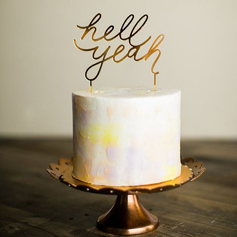 Hell Yeah Cake Topper – Love, Elodie Shop