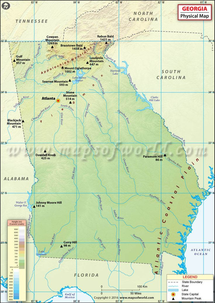 Best State Map USA Images On Pinterest State Map Georgia Usa - Georgia usa map