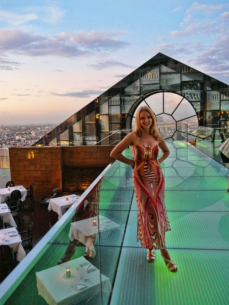 The best rooftop bars in Bangkok, Thailand - Breeze bar at the lebua hotel has breathtaking views