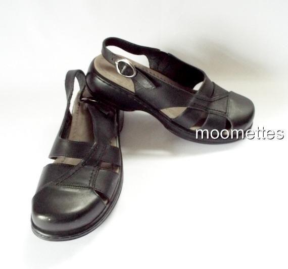 Black Closed Toe Slingback Shoes