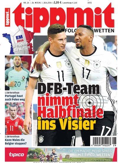 DFB-Team nimmt Halbfinale ins Visier. gefunden in tipp mit - epaper, Nr. 26/2016