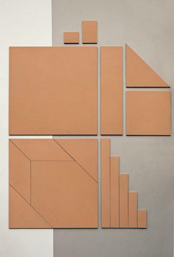 Tierras by Ceramiche Mutina, design Patricia Urquiola: warm tactile material
