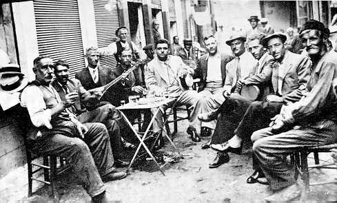 "Greek folk ""rebetiko"" in Thessaloniki 1937"