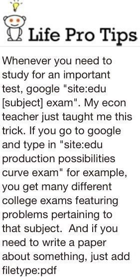 collegesos:  Hey ladies and gents! I found this neat Google trick a while back and I thought I'd share it on here :) Feel free to follow for more college tips and advice :)