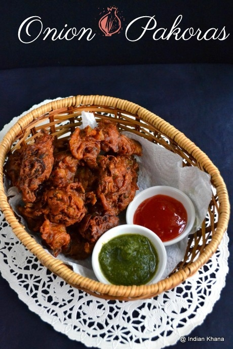 Onion Pakoda | Onion Fritters | Pyaz Ke Pakoda  Sliced onion, chickpeas flour, spices mix together and deep fried to make these yummy and additive Onion Pakoras, A North Indian specialty.  Perfect for evening snacks or finger food during party