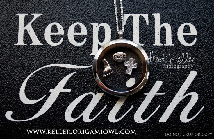 Keep the faith Origami Owl locket. Get yours at www.sramirez.origamiowl.com