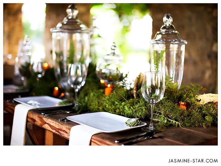 Moss Tablescapes | Here Are A Few Of The Favorites From The Session And  Carissas . Wedding DecorationTable Decor ...
