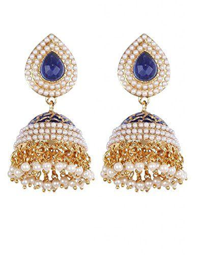 Indian Traditional White Pearls Polki Blue Color Gold Pla... https://www.amazon.com/dp/B01L8LHDFY/ref=cm_sw_r_pi_dp_x_GlYHyb8G2MTR2