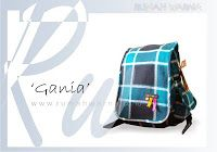 """A """"Splashy"""" Gania """"Bag This one has a backpack colors are soft, but still there is a colorful decoration applications ..."""