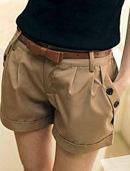 Fino  -  Rígido  -  Cortos  -  Pantalones de las ... – USD $ 12.99