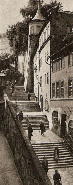 Czechoslovakia. Nové zámecké schody, Prague, 1968 // by Zdenko Feyfar