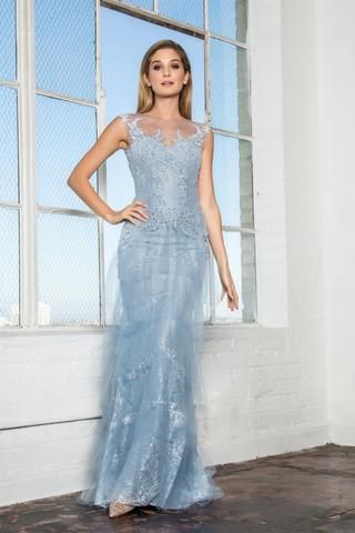 Lace Tulle Periwinkle Wedding Dress Gl2258 Simply Fab Dress Sexy