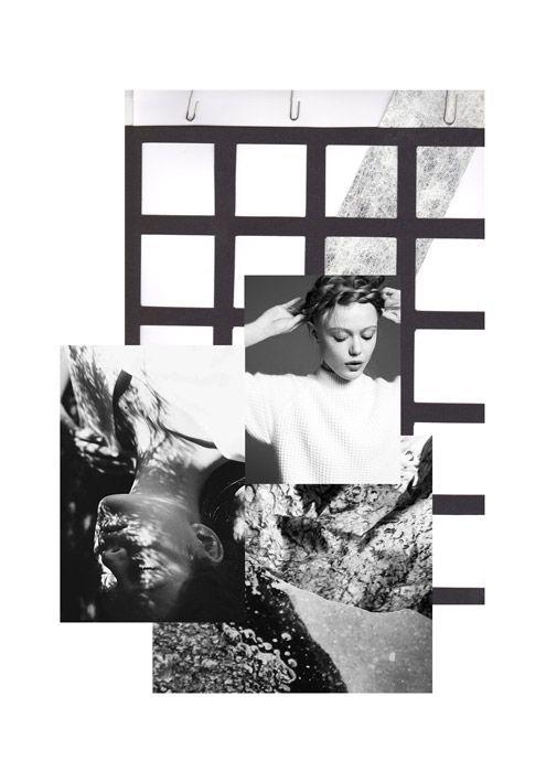 Fashion Moodboard - fashion design research for a monochromatic fashion collection // Mary-Emma Brooks