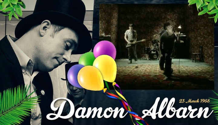 Congratulations Damon Albarn on your 44th Birthday! Born  23 March 1968,  Albarn is an  English singer-songwriter and record producer, best known as a frontman of Blur and Gorillaz. http://ecard.ly/GIuJaT