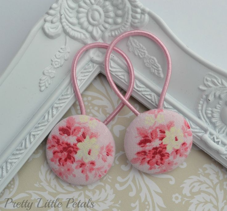Handmade Hair Ties by Pretty Little Petals, $7 (free shipping within Australia). www.notinshops.com.au #gift #girl #hair #hairaccessories