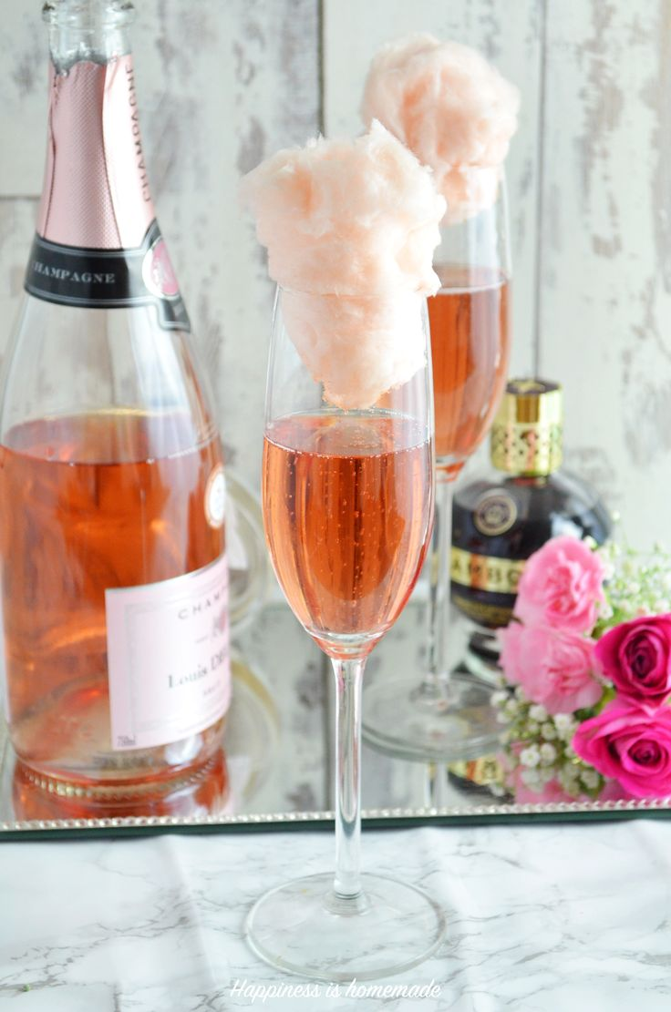 Champagne is always a good idea and because I don't do Valentines this is a perfect excuse to prepare some lush drinks that will fit into this theme! I would love to share with you a quick recipe for this delicious cocktail. Filled with Chambord and fluffy candy floss topped with Rosé….afternoon with a glass …