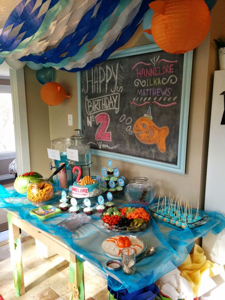 A 2 year old's dream Bubble Guppies party. Free Printable included to help your party planning go smoothly. The printable can be used for any party.
