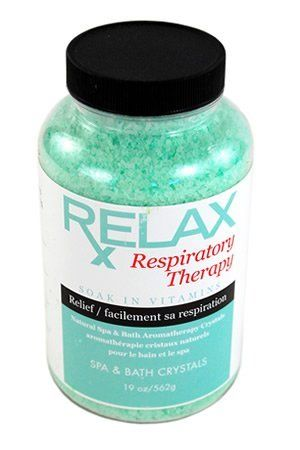 Respiratory Rx Bath Crystals -19 Oz- Therapeutic Natural Mineral Salts & Vitamins - Breath Relief for Spas, Jacuzzi, Whirlpool by Relax Spa & Bath. $9.95. Powerful Aromatherapy with Natural Coloring - Enhances Relaxation - Vitamin Enfused. Respiratory Therapy - 19 Oz Bottle - All Natural, Therapeutic Bath Crystals - Perfect to Speed Recovery of Respiratory Ailments. Remedy for Aches and Pains - Reduce Tension & Stress - Enhance Self-Healing & Detoxify. Skin Softening Moisturi...