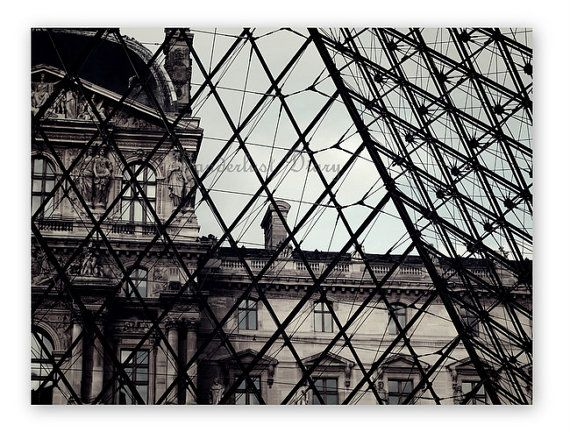 Beautiful Paris! The historic Louvre Museum in Paris viewed from inside the entrance pyramid.  #Paris #France #Louvre #FineArt #TravelPhotography #Travel #FineArtPhotography #WallArt