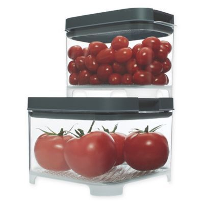 Rubbermaid Freshworks Countertop Small Produce Containers With