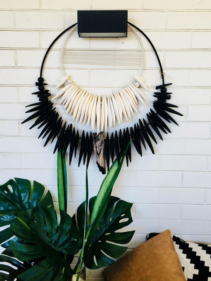 Black and white cuttlefish bone wall hanging Available via Etsy: feathernbone