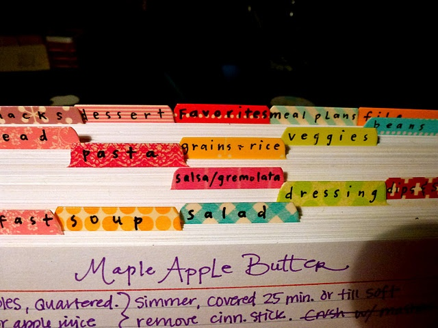 like how Teesha made her dividers using washi tape to make them brighter and happier