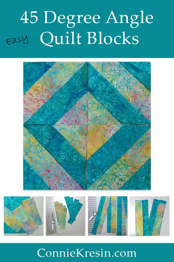 45 Degree Angle Strip Tube Quilt Block Tutorial Freemotion By The River Quilts Quilt Blocks Quilt Blocks Easy