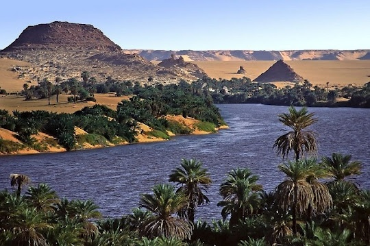 Lakes of Ounianga in the Sahara Desert, Chad