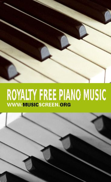 Royalty free piano music. Compositions and improvisations for piano solo.