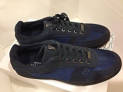 Sale New Versace Collection Mens Sneakers Suedes Shoes US 10 EU 44 Hurry Up | eBay