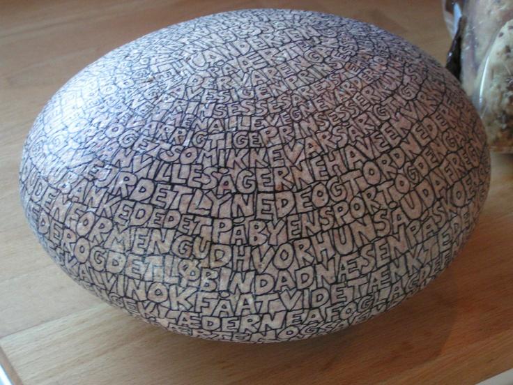 Sten med tekst
