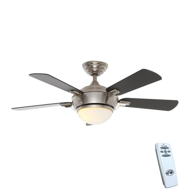 The 25 best hampton bay ceiling fan ideas on pinterest bedroom hampton bay midili 44 in led indoor brushed nickel ceiling fan with light kit and mozeypictures Image collections