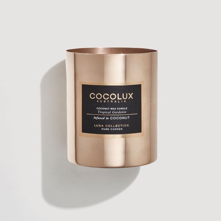 "Tropical Gardenia150G COPPER CANDLE BY ""COCOLUX'"