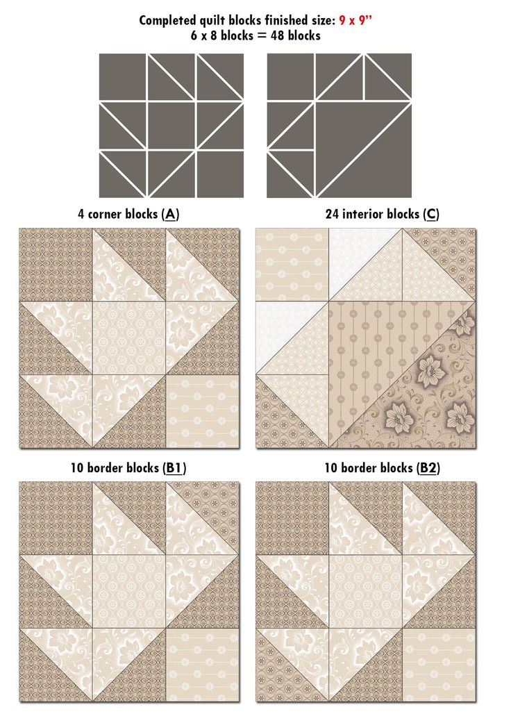 Iced Tea Collection Quilt blocks