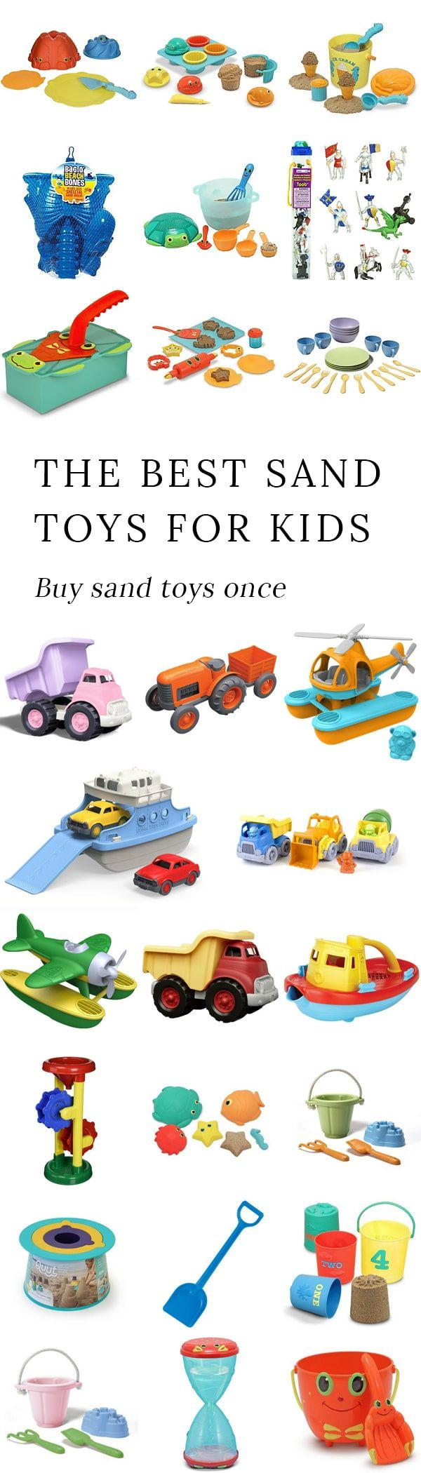 Purchasing high quality sand toys for kids once saves money and prevents pounds of worthless, broken plastic from entering the landfill. via @https://www.pinterest.com/fireflymudpie/