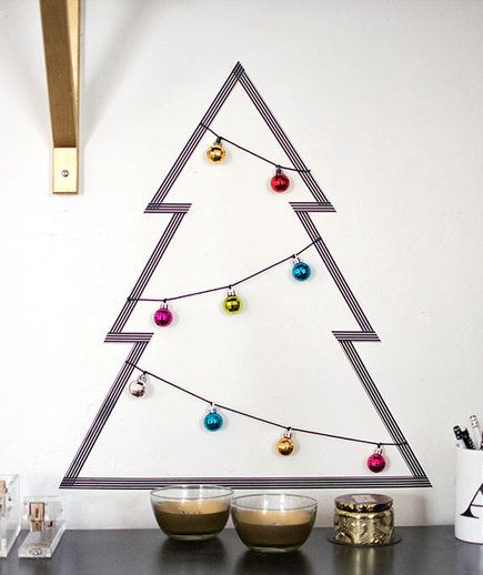 If your space is too small for a Douglas Fir, or you just want to try something out-of-the-ordinary this year, give one of these clever DIY ideas a go.