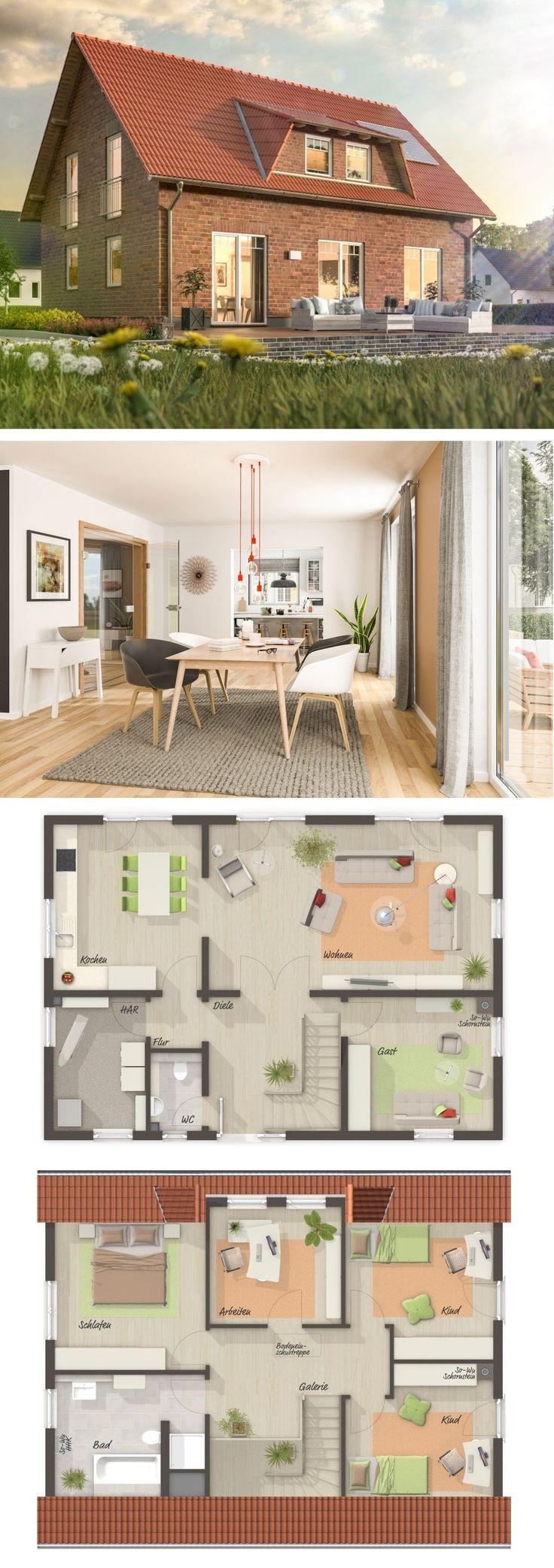 Einfamilienhaus mit Klinker Fassade & Satteldach A…