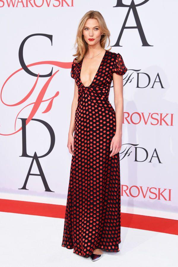 Karlie Kloss in Diane Von Furstenberg at the CFDA Awards